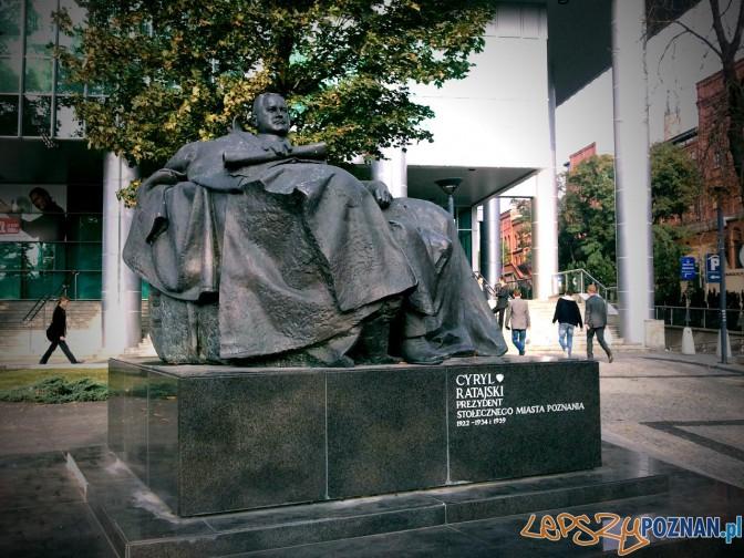 pomnik Cyryla Ratajskiego Foto: lepszyPOZNAN.pl / ag