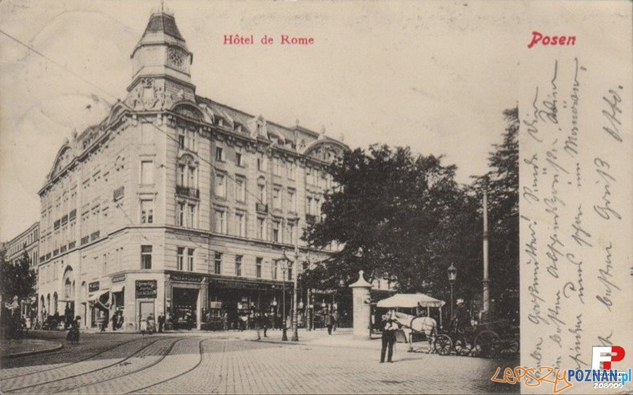 Hotel Rzymski w roki 1903 Foto: fotopolska.eu