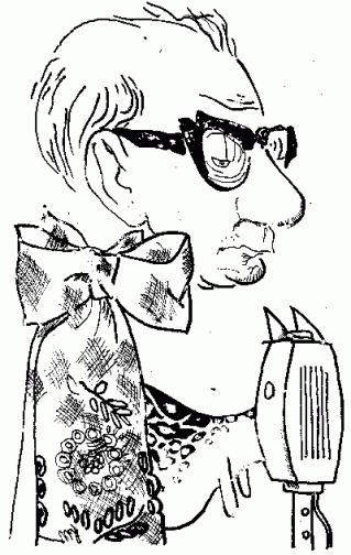 Karykatura St. Strugarka autorstwa Stanisława Mrowińskiego Foto: Klub Krąg