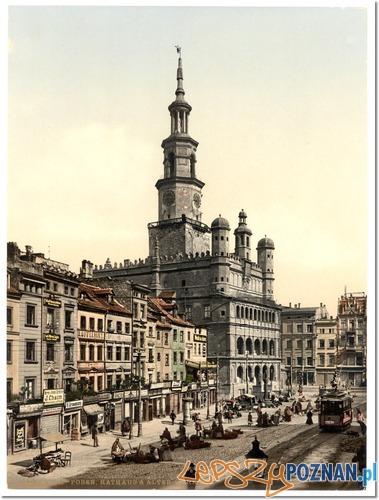 Ratusz w Poznaniu początek XX wieku