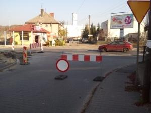 Zamknięty wyjazd z ulicy Mścibora Foto: lepszyPOZNAN.pl / gsm