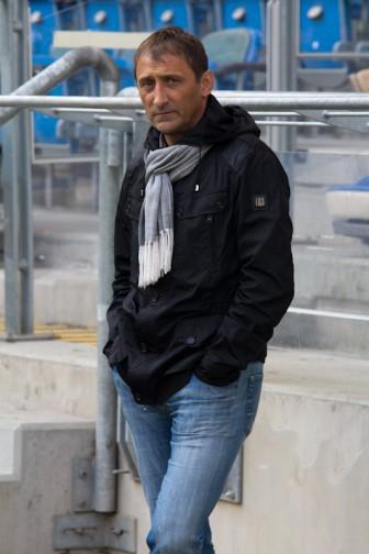 Trener Warty Poznań Jarosław Araszkiewicz - Stadion Miejski 6.11.2011 r.