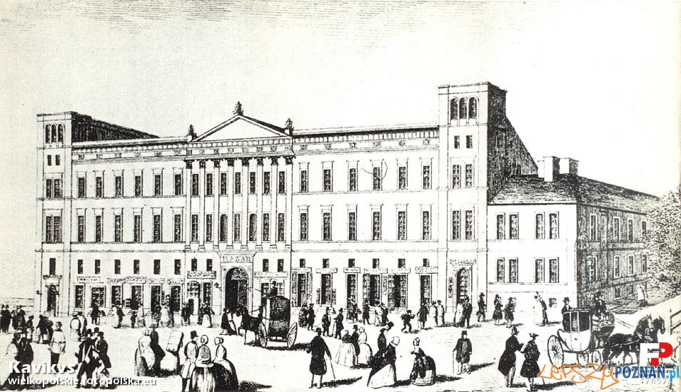 Hotel Bazar w 1845 roku Foto: fotopolska.eu