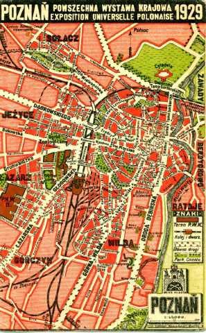 Plan Poznania 1929