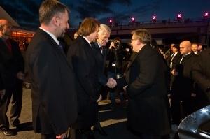 Prezydent Bronisław Komorowski przybył na otwarcie odcinka autostrady A2 Foto: Autostrada Wielkopolska