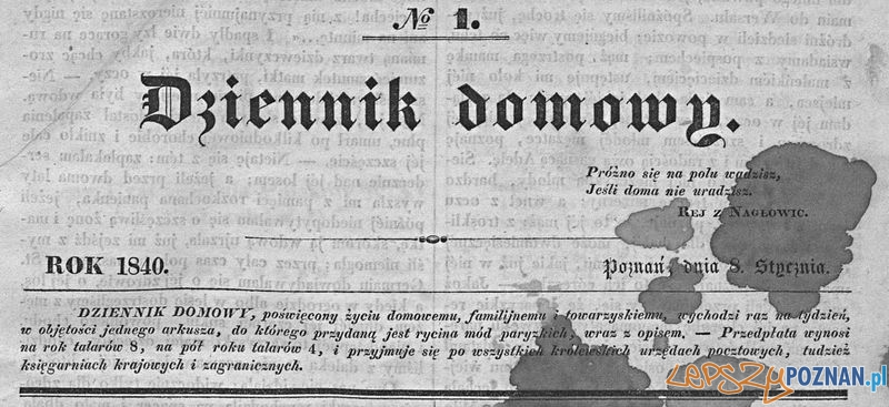 Dziennik Domowy 1840 treść