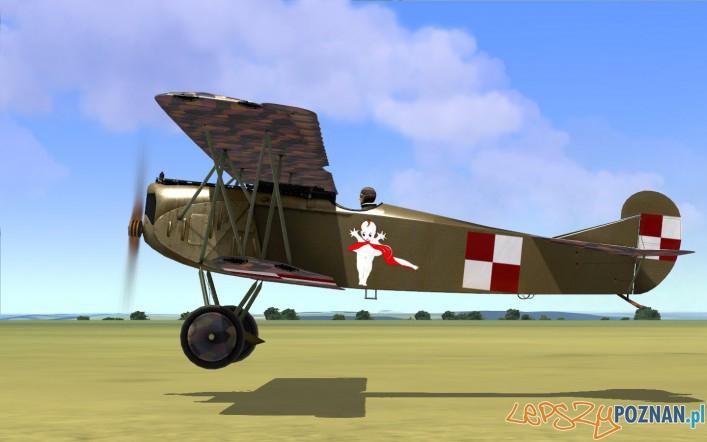 Fokker D.VII nazywany Bi-Ba-Bo majora Adama Haber Włyńskiego stacjonujący na poznańskiej Ławicy Foto: http://www.sim-outhouse.com