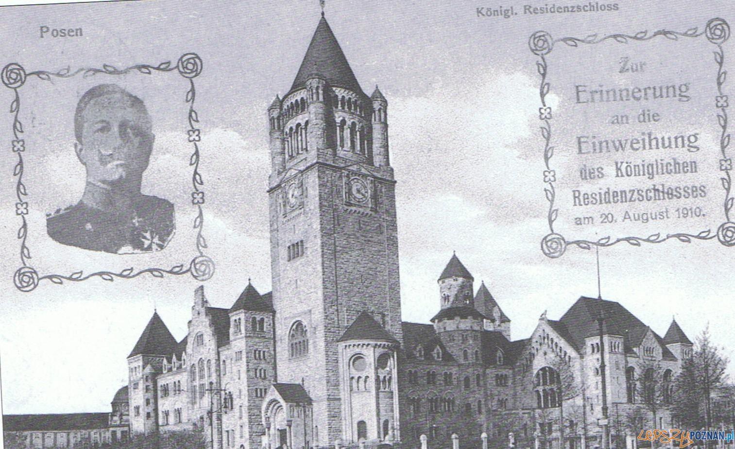 Kartka pocztowa - zamek cesarski w Poznaniu Foto: http://stacjapoznanglowny.blogspot.com