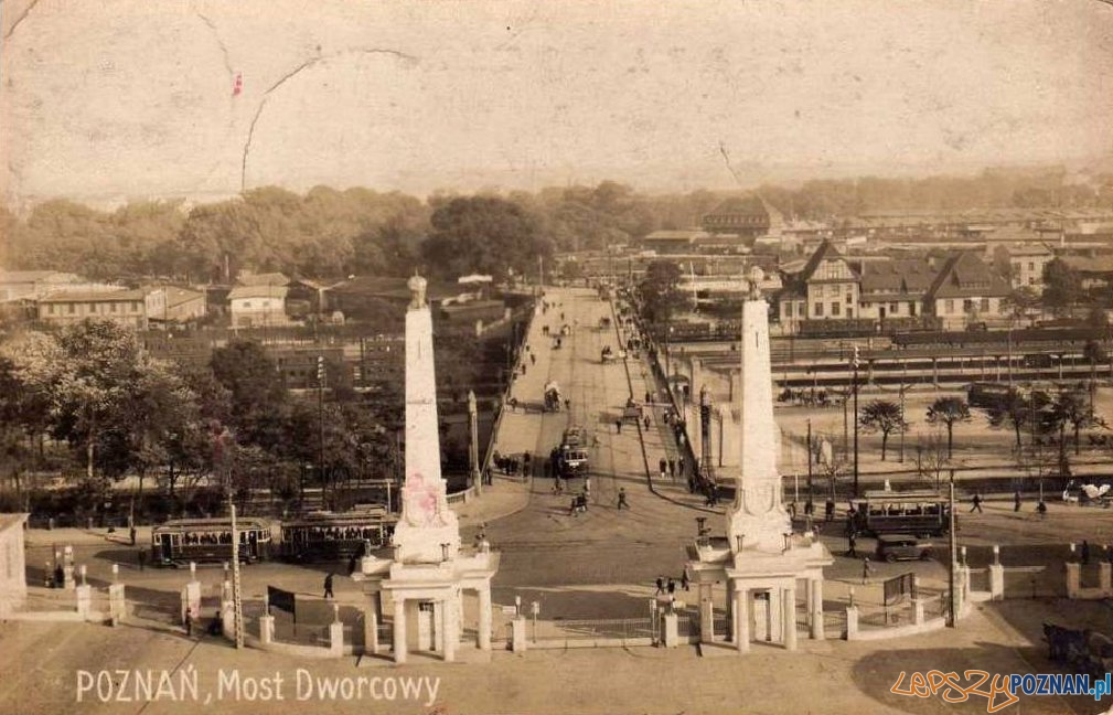 Most Dworcowy 1920-1930 Foto: fotopolska.eu