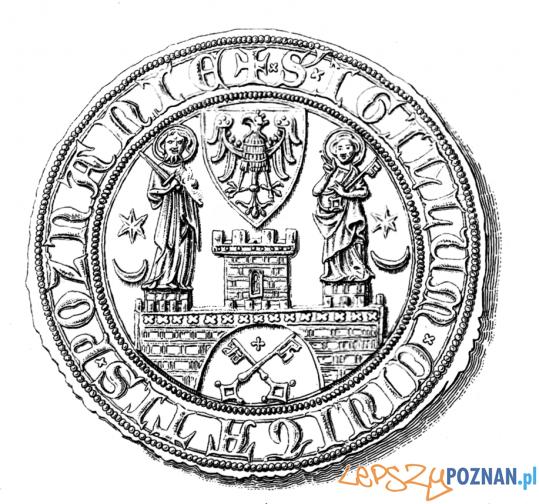 Pieczęć miejska Pozania z XIV wieku