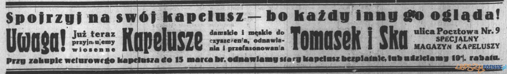 Anons prasowy w Dzienniku Poznańskim 5 lutego 1932