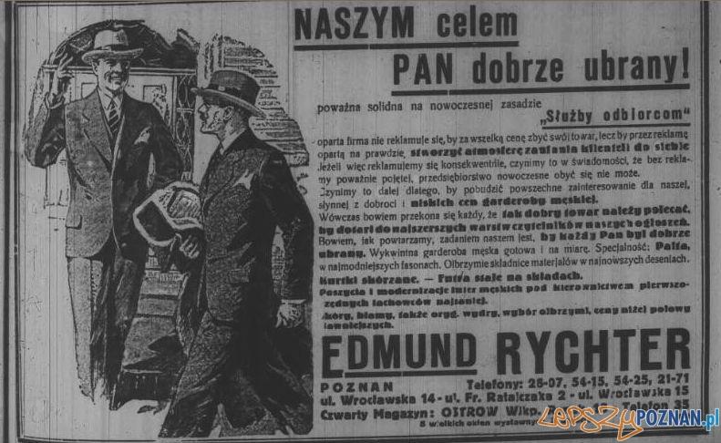 Reklama z Dziennika Poznańskiego, luty 1933 Foto: Wielkopolska Biblioteka Cyfrowa