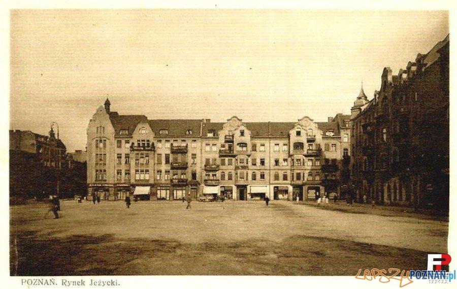 Rynek Jeżycki (lata 30 XX wieku) Foto: fotopolska.eu