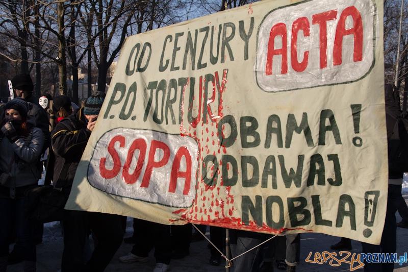 Protest przeciwko ACTA  Foto: lepszyPOZNAN.pl / Piotr Rychter
