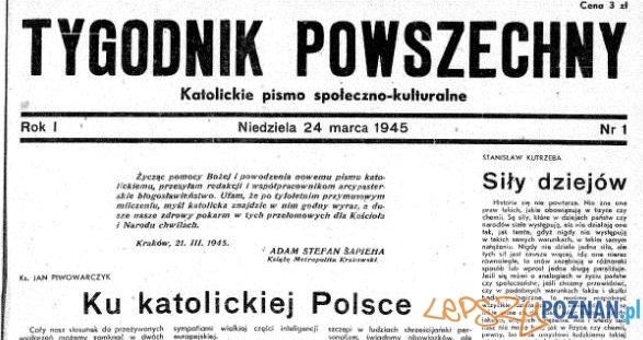 Numer 1 Tygodnik Powszechny Foto: Małopolska Biblioteka Cyfrowa