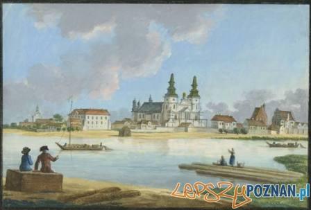 Ostrów Tumski w XVIII wieku Foto: wikimedia