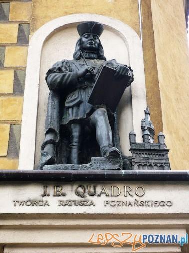 Rzeźba J.B Quadro na ścianie Muzeum Sienkiewicza na Starym Rynku Foto: http://fotopoznan.blogspot.com