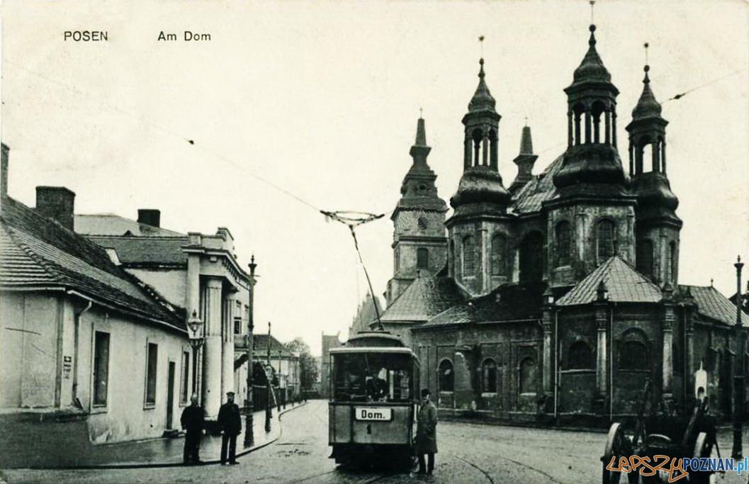 Tramwaj na Ostrowie Tumskim, rok 1910 Foto: fotopolska