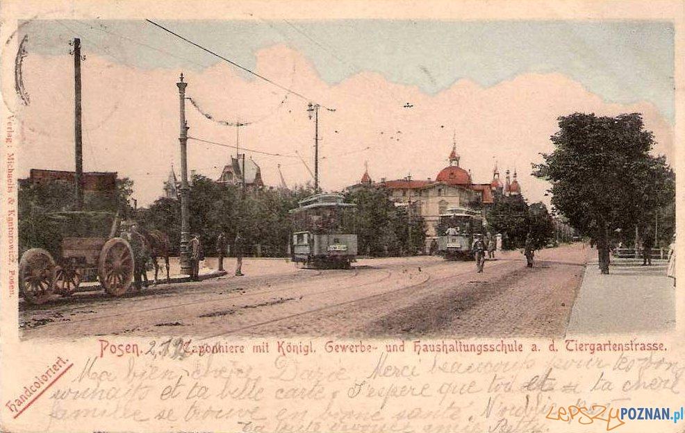 Tramwaj na ulicy Zwierzynieckiej, rok 1900 Foto: fotopolska.eu