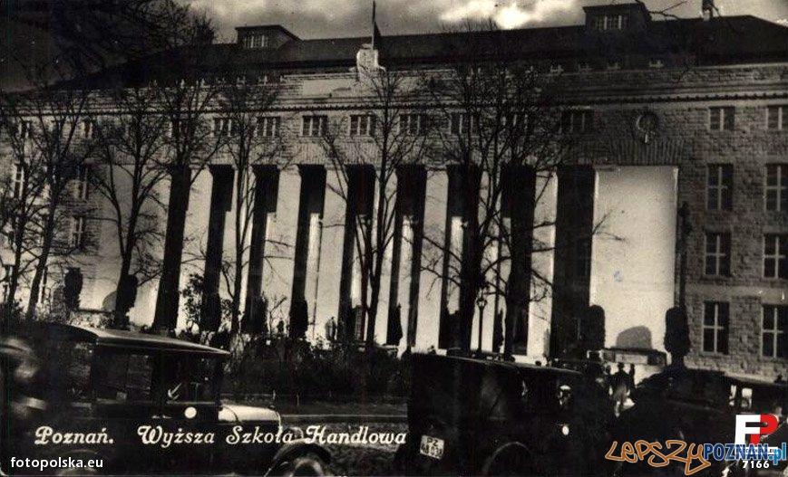 Wyższa Szkoła Handlowa w Poznaniu, lata 30 XX wieku Foto: fotopolska.eu
