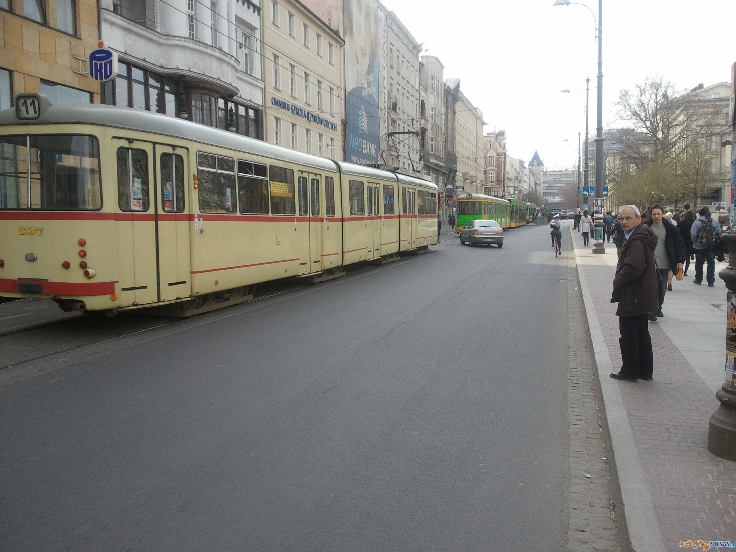 Zablokowane bimby w centrum  Foto: lepszyPOZNAN.pl / gsm