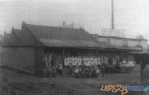 Fabryka Czekolady Goplana przy ulicy Warszawskiej (najstarsza zachowana fotografia z ok. 1914 r.)