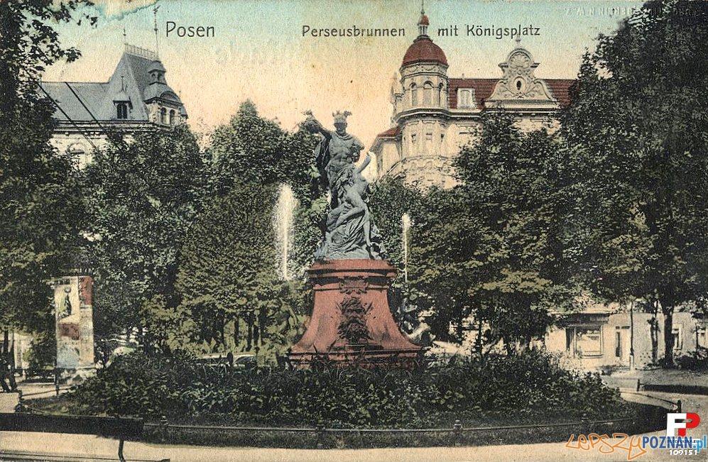 Fontanna Perseusza i Andromedy na dawnym Placu Królewskim (dziś Cyryla Ratajskiego)