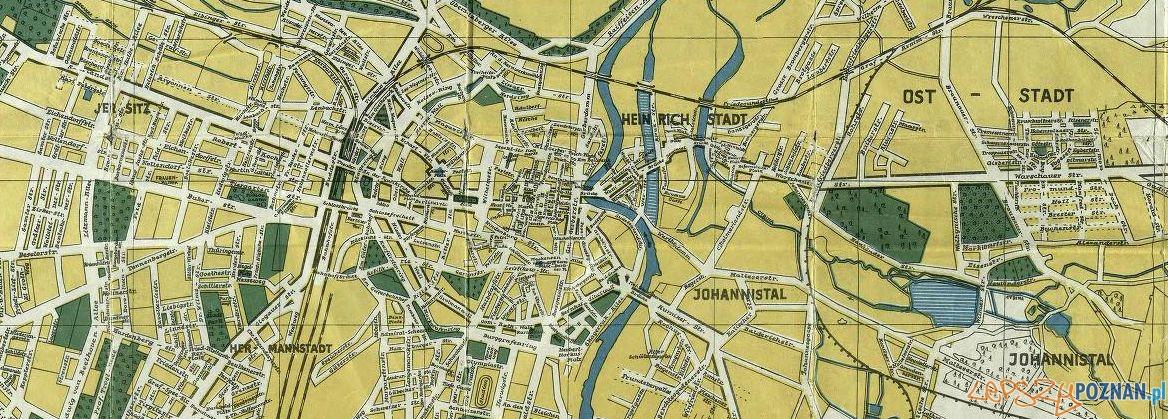 Mapa Poznania 1940 Foto: Wielkopolska Biblioteka Cyfrowa