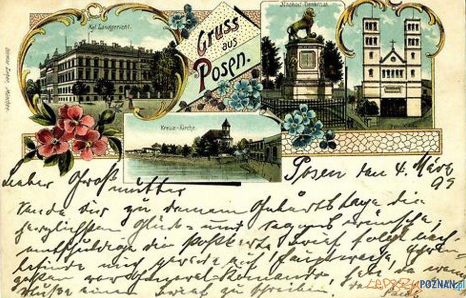 Pocztówka z Poznania rok 1899 Foto: fotopolska.eu
