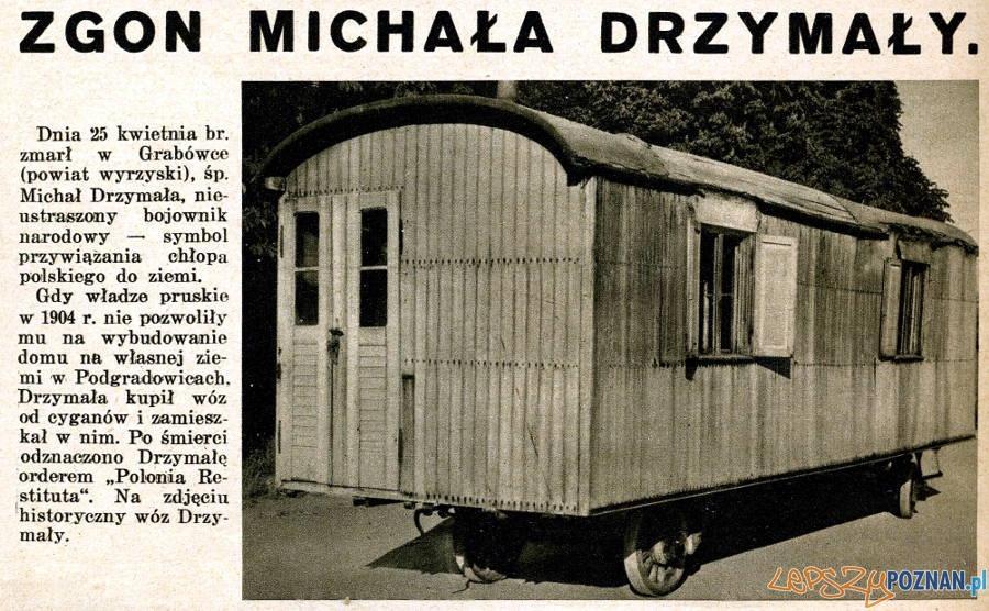 Zgon Michała Drzymały Foto: Źródło: Światowid nr 18 (664) - 01.05.1937, str.12 na podstawie: http://20lecie.blogspot.com