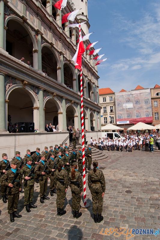 Uroczystości 3-cio majowe - Poznań 3.05.2012 r.  Foto: LepszyPOZNAN.pl / Paweł Rychter