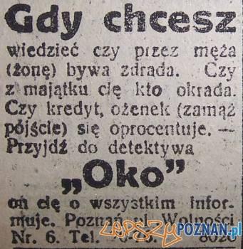 Detektyw Oko, Dziennik Poznański, 1928 Foto: http://staraprasa.blox.pl