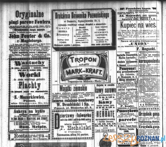 Dziennik Poznanski 1900 reklamy
