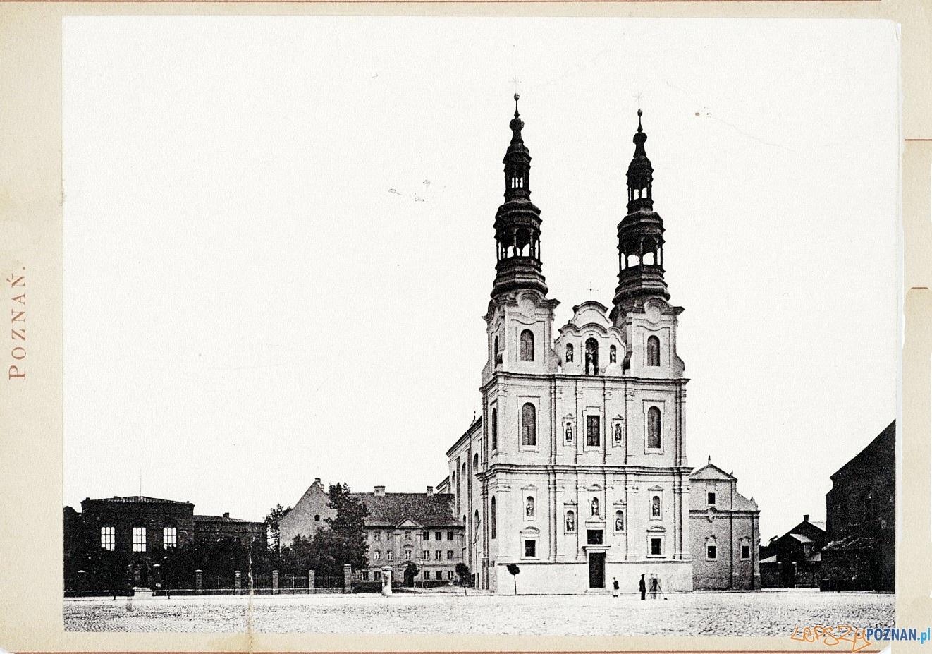 Kościół Franciszkanów przy Placu Bernardyńskim, rok 1884 Foto: fotopolska.eu