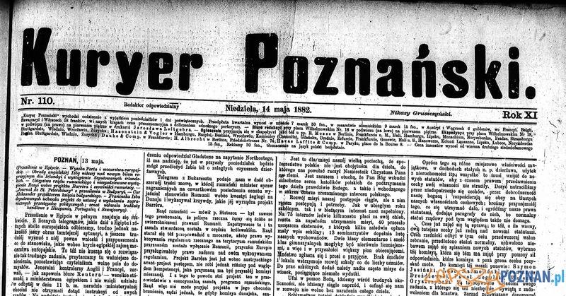 Kurier Poznański 14 maja 1882