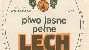 Lech etykieta z lat 80-tych