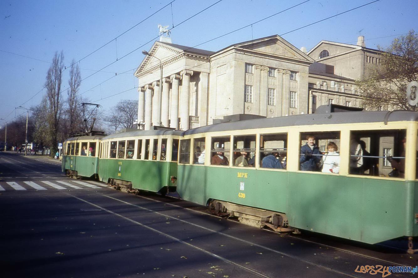 Poznańskie tramwaje, rok 1989 Foto: fotopolska