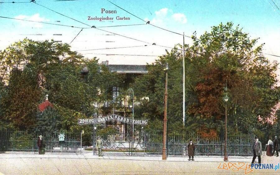 Wejście do Ogrodu Zoologicznego, rok 1916 Foto: fotopolska