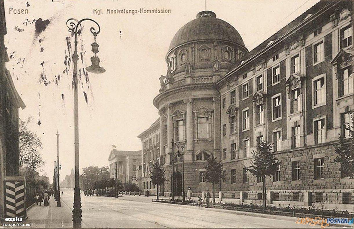 Dzisiejsze Collegium Maius, dawny budynek Niemieckiej Komisji Kolonizacyjnej, rok 1914
