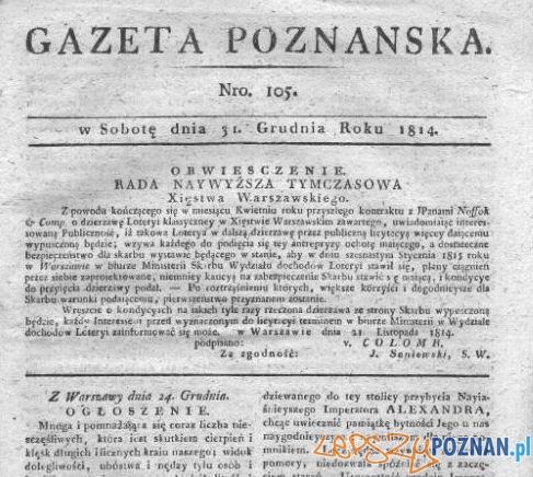 Gazeta Poznańska 31-12-1814