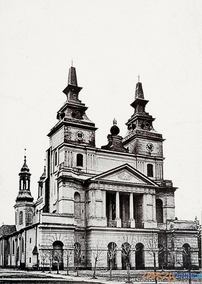 Katedra w Poznaniu, około 1880 roku