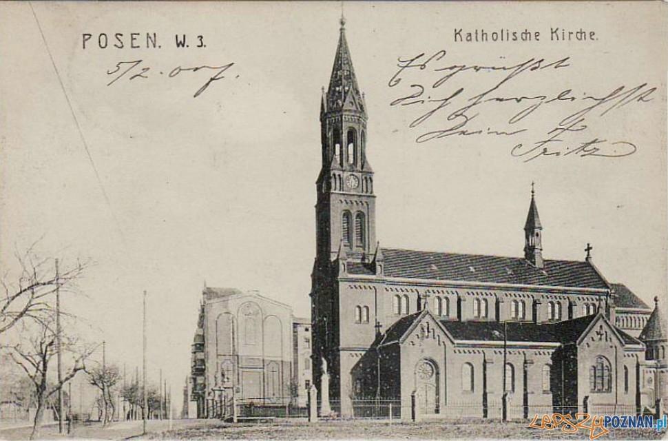 Kościół Matki Boskiej Bolesnej na Łazarzu, około 1910 r