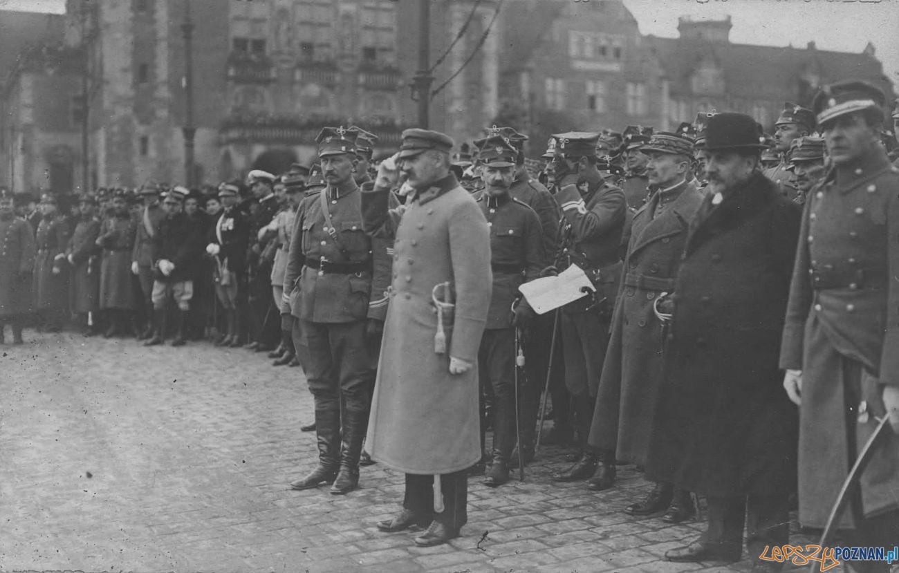 Piłsudski w Poznaniu w 1919 roku, na Św. Marcinie
