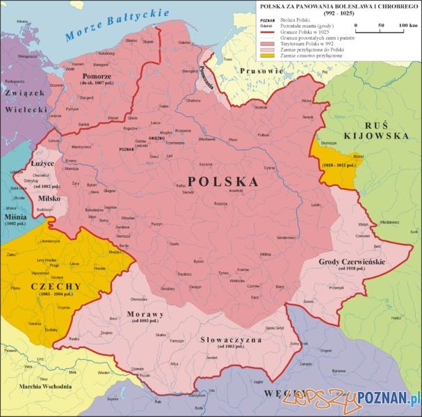 Polska za Bolesława Chrobrego 992 - 025 Foto: wikipedia.pl