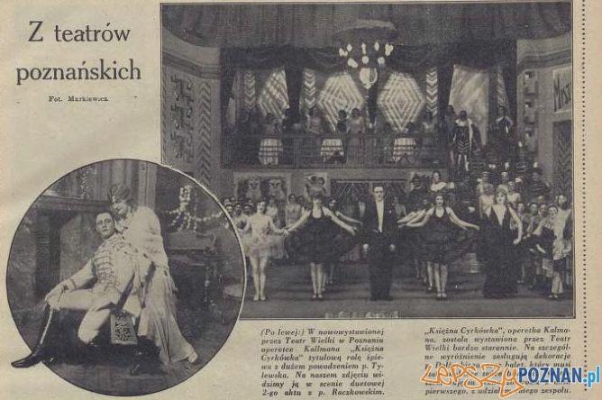 Z życia teatrów poznańskich Foto: Ilustracja Poznańska, nr 22 z 2 czerwca 1931 r