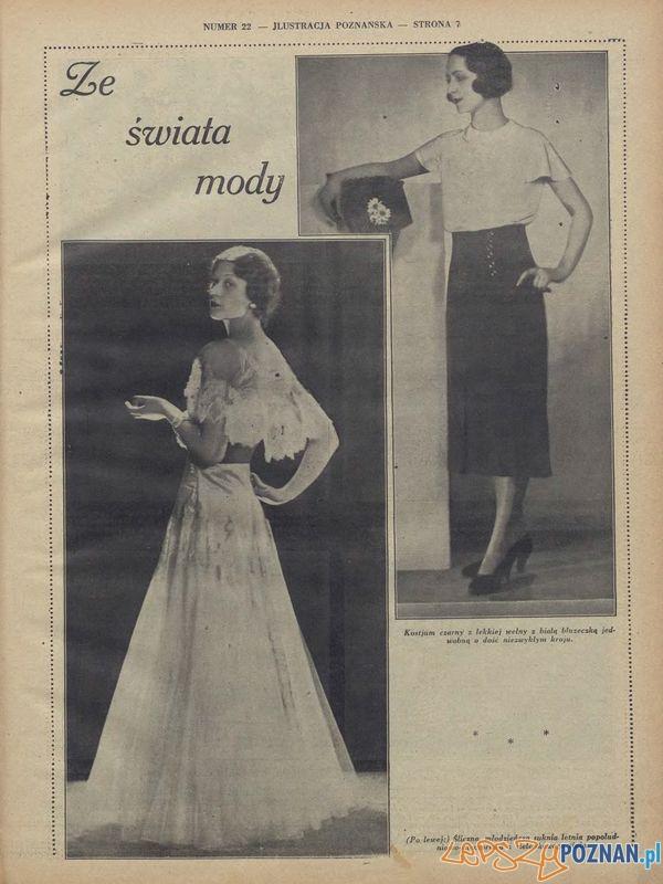 Ze świata mody. Ilustracja Poznańska 2 czerwca 1931