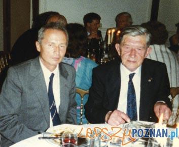 Zwycięzcy zawodów o Puchar im. J.G. Bennetta - Stefan Makné (1983) - po lewej i Antoni Janusz (1938) Foto: http://www.aeroklub.poznan.pl/a