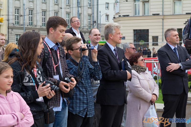 Uroczyste włączenie Fontanny Wolności  Foto: lepszyPOZNAN.pl / Piotr Rychter