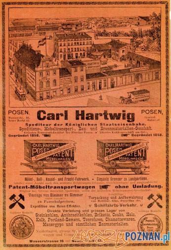 Carl Hartwig, Wodna 16 - 1905 Foto: Muzeum Narodowe w Poznaniu, wystawa Miejska ikonosfera na drukach reklamowych z widokami Poznania 18