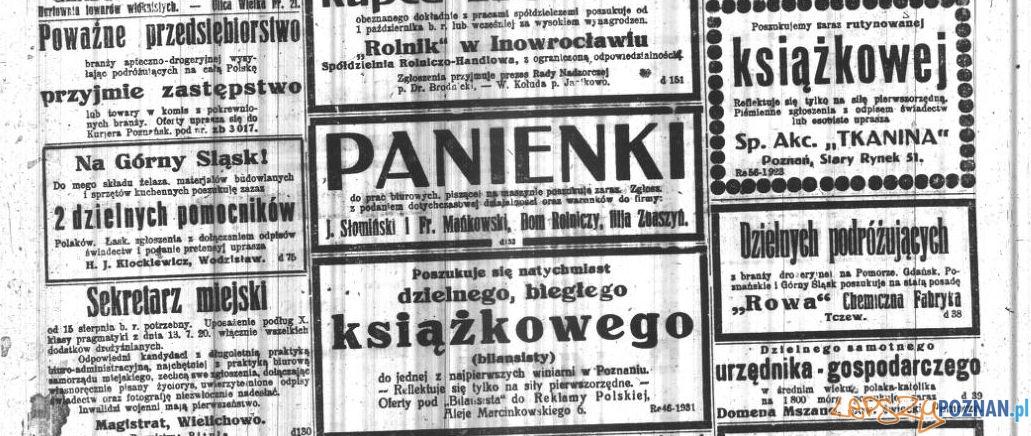 Kurier Poznański ogłoszenia 8 lipca 1922 Foto: Wielkopolska Biblioteka Cyfrowa